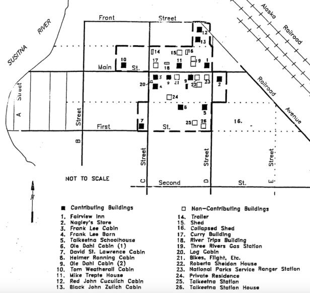 Historic Downtown Talkeetna Map