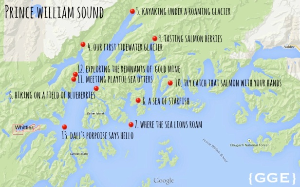 Prince William Sound Map