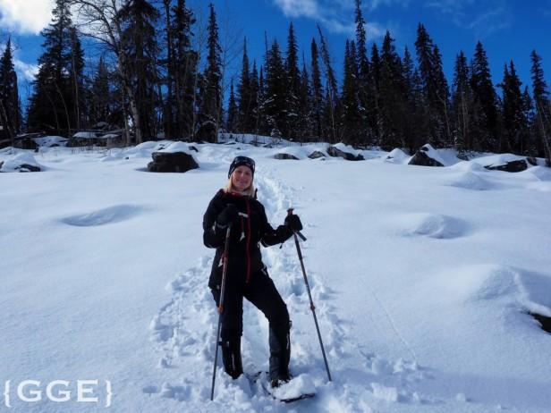 Snowshoeing Medicine Lake Jasper