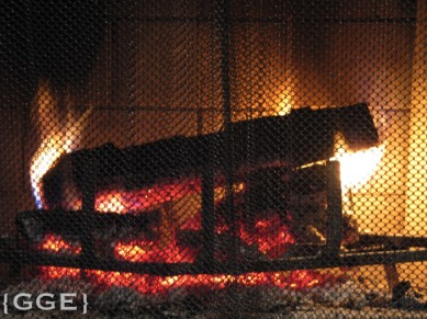 Fire place Emerald Lake Lodge