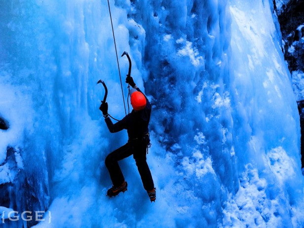Maligne Canyon Ice Climber