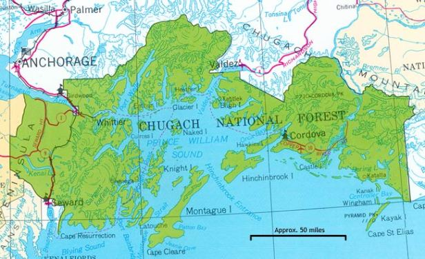 Chugach National Forest Map