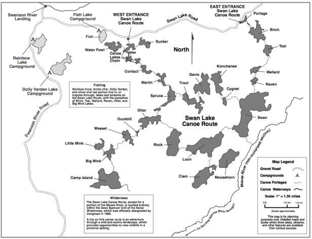 Map Swan Lake Canoe Route