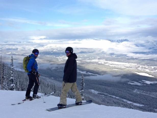Skiing Kicking Horse Mountain