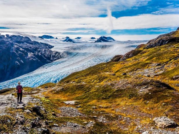 Hiking Harding Icefield