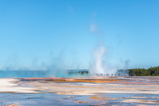 Thermal feature colorful Yellowstone