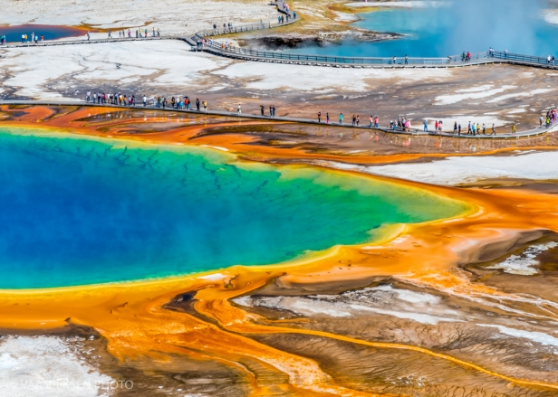 Thermal feature colourful Yellowstone