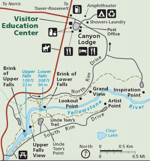 Map Yellowstone