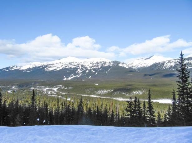 Skiing Banff National Park